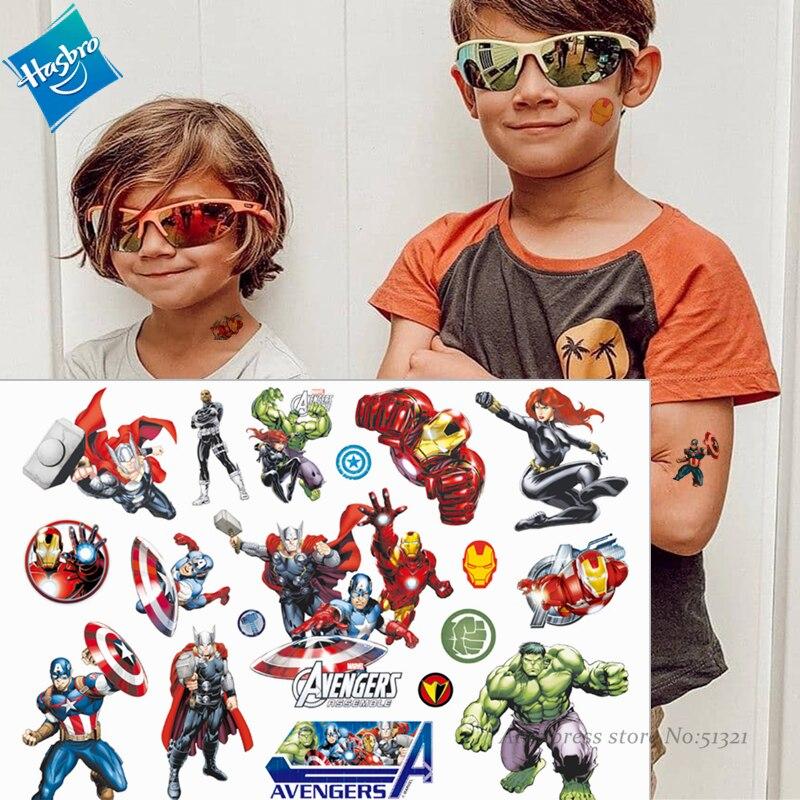 hasbro-hulk-spiderman-avengers-marvel-bambini-del-fumetto-autoadesivo-del-tatuaggio-temporaneo-per-i-ragazzi-del-fumetto-giocattoli-impermeabile-partito-scherza-il-regalo