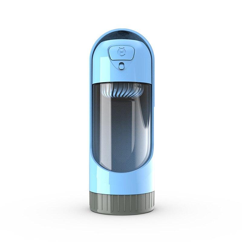 Botella de agua al aire libre de 300ml para alimentador de gatos y mascotas, cuencos de plástico con filtro, suministros para perros