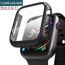 Glass+cover For Apple Watch case 44mm 40mm iWatch 42mm 38mm Screen Protector+bumper Accessories for