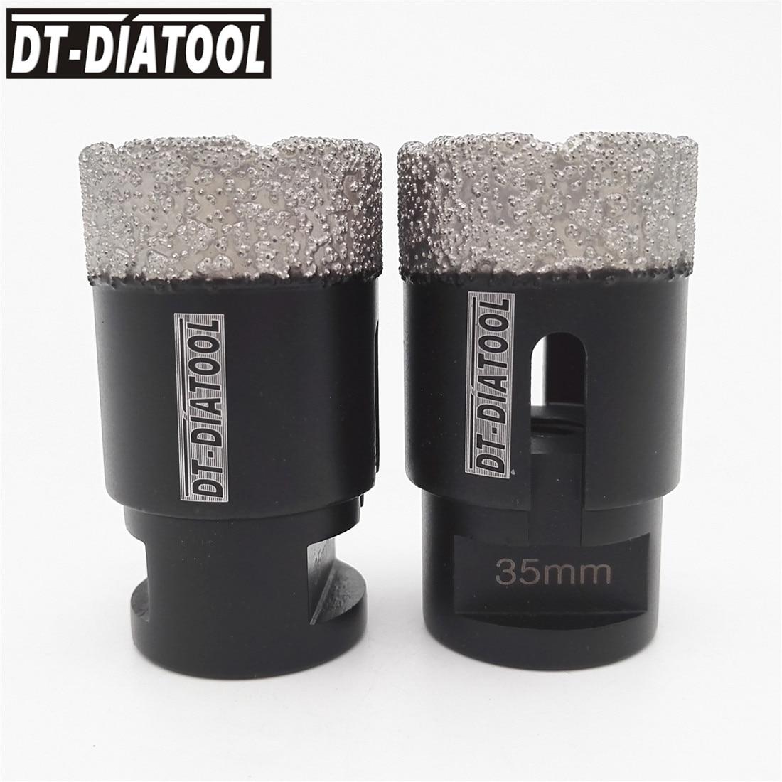 2pcs 35mm Dry Vacuum Brazed Diamond Drilling Core Bits Ceramic Tile Hole Saw M14 Professional Quality Drill bits