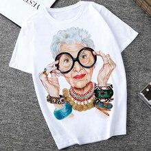 Women Tshirt Cartoon Print T-shirt Women Plus Size Urban Casual Blouse Loose Art Short Sleeve Round