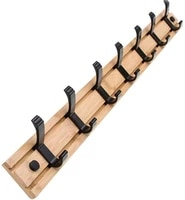 bamboo wall mounted coat rack movable 34567 coat hooks for bags clothes umbrella key in hallway bathroom living room bedroom