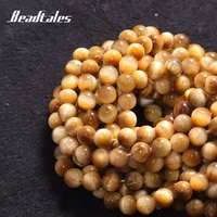 natural stone spacer beads round saturn yellow loose beads for jewelry diy making bracelet accessories 15 6810mm beadtales