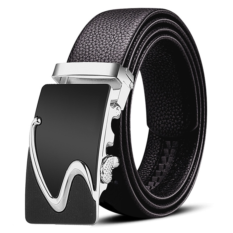 First layer men's belt business cowhide belt leisure young and middle-aged soft leather automatic buckle belt
