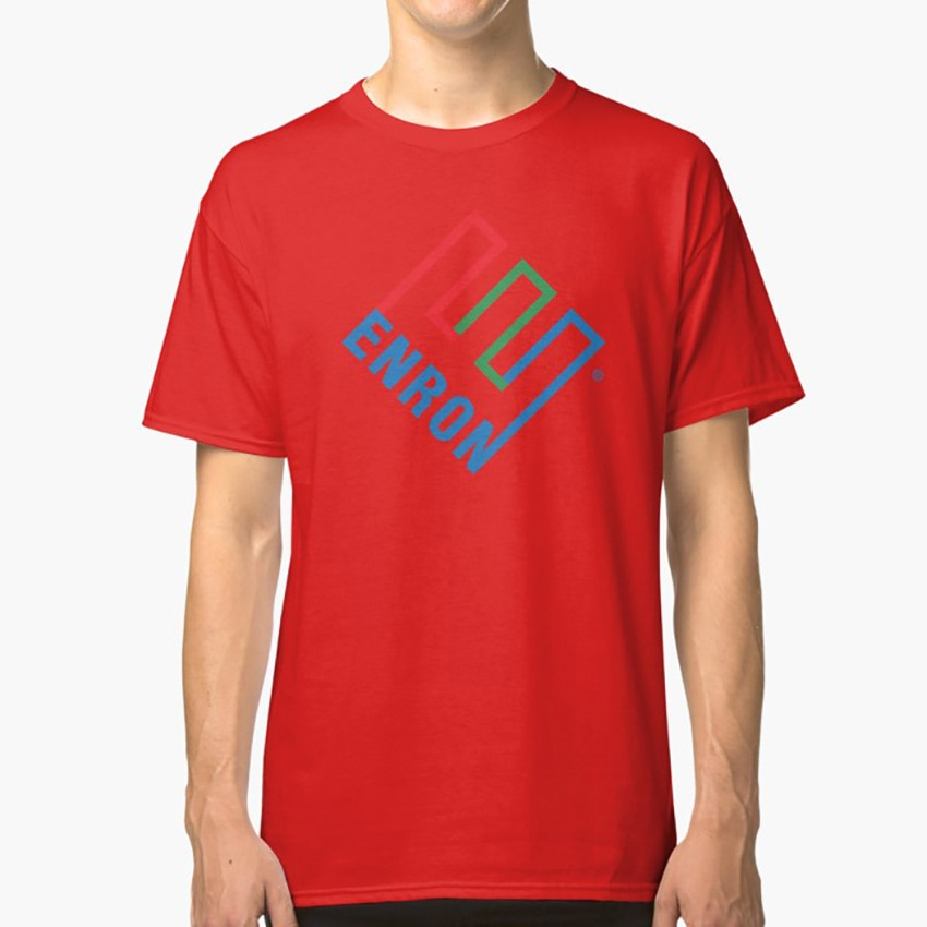 Футболка с логотипом компании Enron-Defunct-футболка с корпоративным юмором-пародийная футболка enron Decoration defunct Company