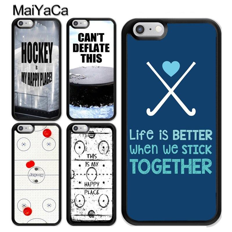 Hockey Sport Inspiration Fall Coque Für iPhone 11 Pro MAX X XR XS MAX SE 2020 6S 7 8 plus 5s Abdeckung Coque