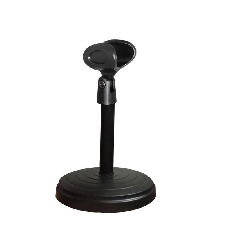 Desktop Wired Microphone Wireless Microphone Disc Bracket Microphone Karaoke Microphone ABS Bracket