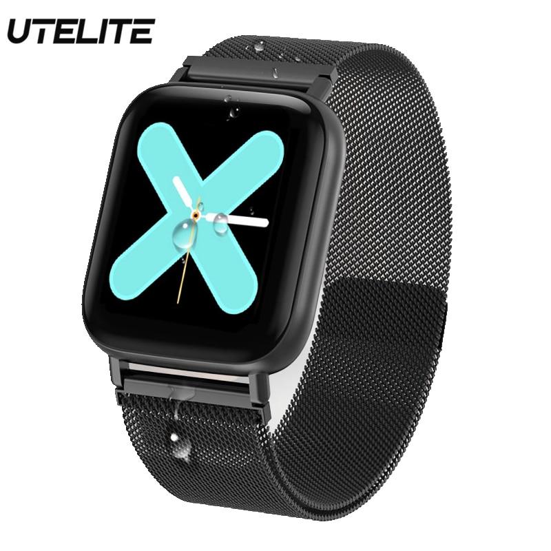 UTELITE Q10 reloj inteligente impermeable de Monitor de sueño, reloj de la presión arterial Tracker pulsera inteligente para Xiaomi Huawei iPhone
