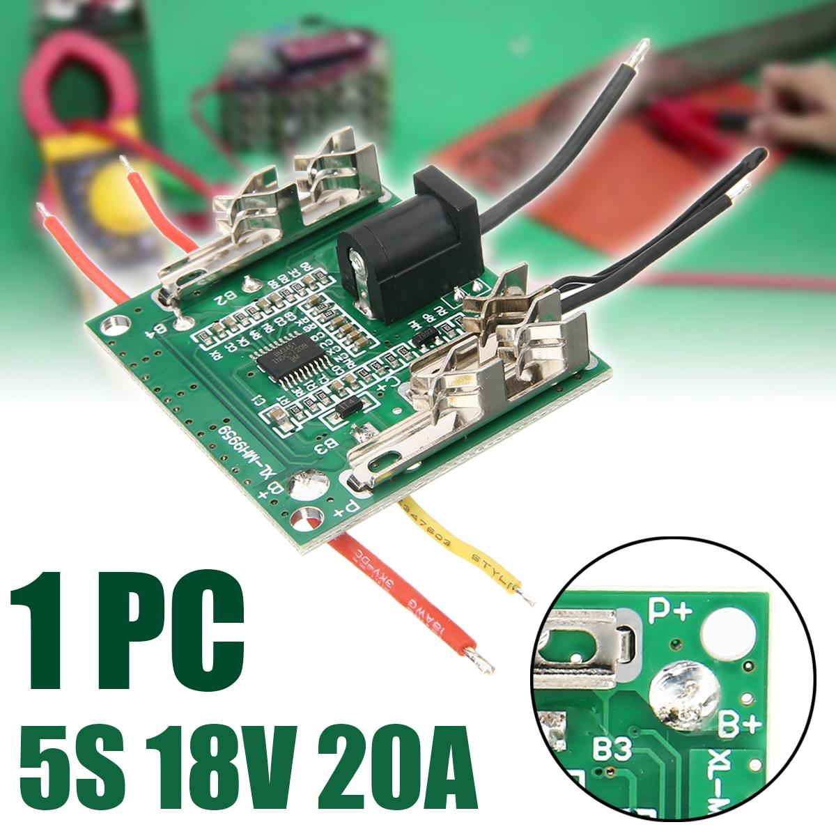 5S 20A Li-Ion Placa de protección de batería de litio 18V PCB Placa de protección BMS circuitos integrados para Motor de taladro