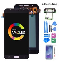 Original Amoled para samsung galaxy j7 2016 j710 SM-J710F J710M J710H J710FN pantalla LCD con montaje de digitalizador con pantalla táctil