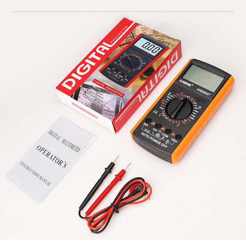 Junejour-multímetro Digital Profesional AC/DC, probador de transistores eléctrico, medidor de prueba esr...
