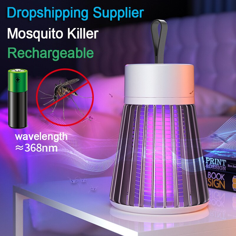 Lámpara eléctrica antimosquitos USB recargable de Muggen asesino luz UV Mata repelente...