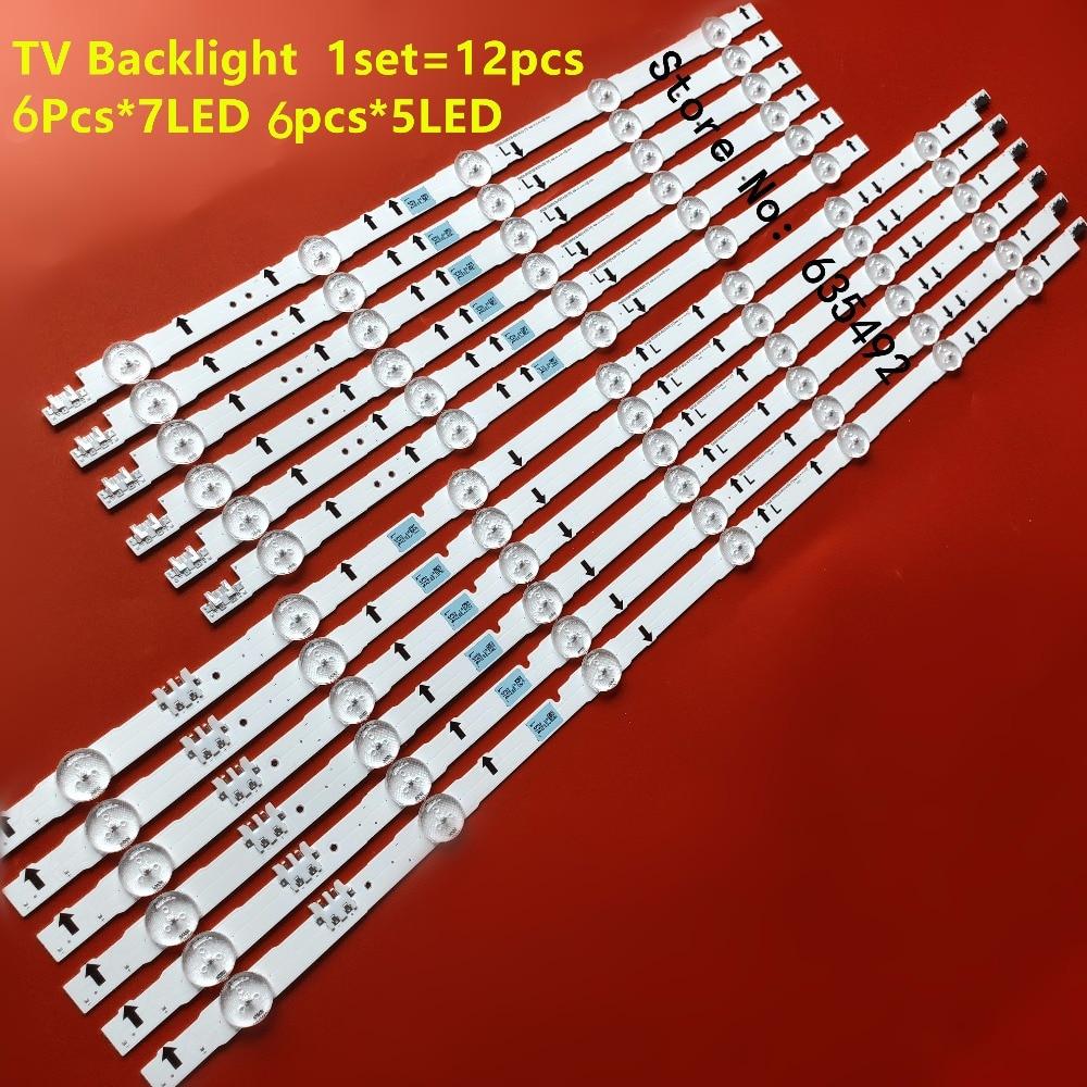 12 قطعة LED الخلفية 2014SVS55 D4GE-550DCA-R3 D4GE-550DCB-R3 ل UE55H5500 UE55J5670 UE55H6200 UE55J6202 UE55H6350 UE55H6400