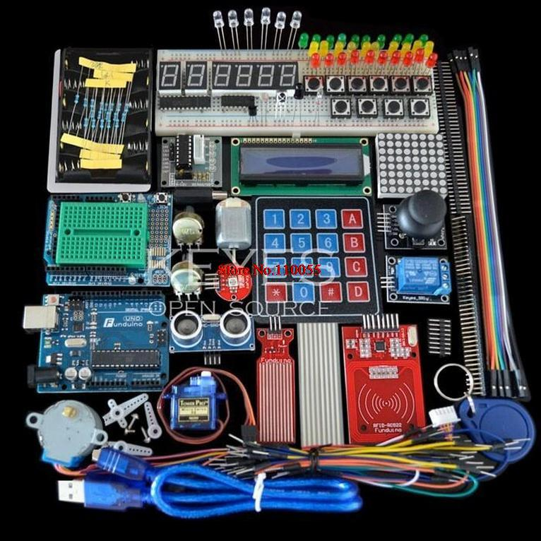 Starter Kit for Arduino Uno R3 - MEGA328P Breadboard and holder Step Motor / SG90 Servo /1602 LCD/ju