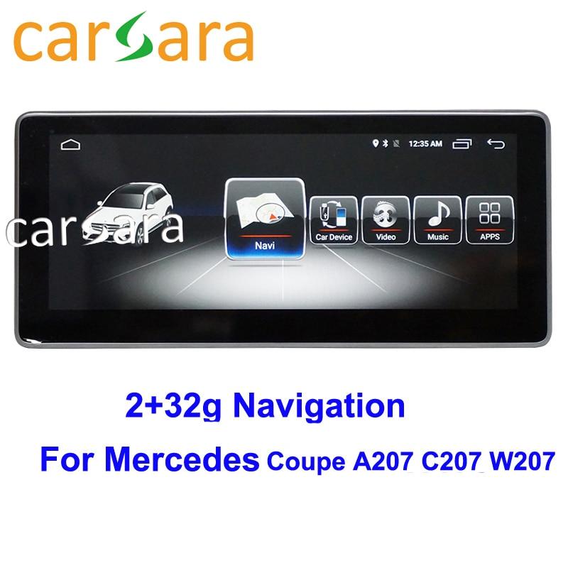 Oem mercedes c207 a207 navegador android ntg5 unidade de cabeça do carro para ben z e classe coupe 2010 2011 2012 2013 2014 2015 tela larga