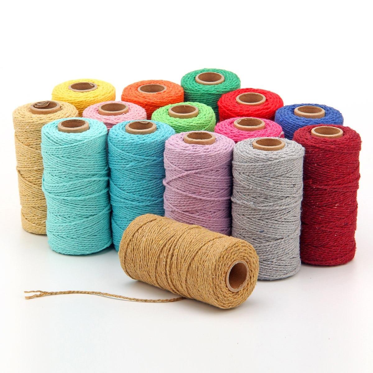 Веревка витая, веревка из 100% хлопка, цветная веревка для макраме, веревка для вечеринки, шнур для рукоделия