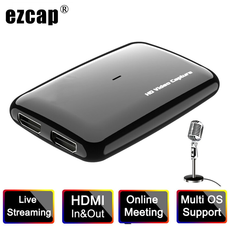 EZCAP301 4K 1080P 60FPS HD HDMI USB 3,0 Tarjeta de captura de vídeo grabador para XBOX PS3 PS4 programas de TV grabación médica en vivo
