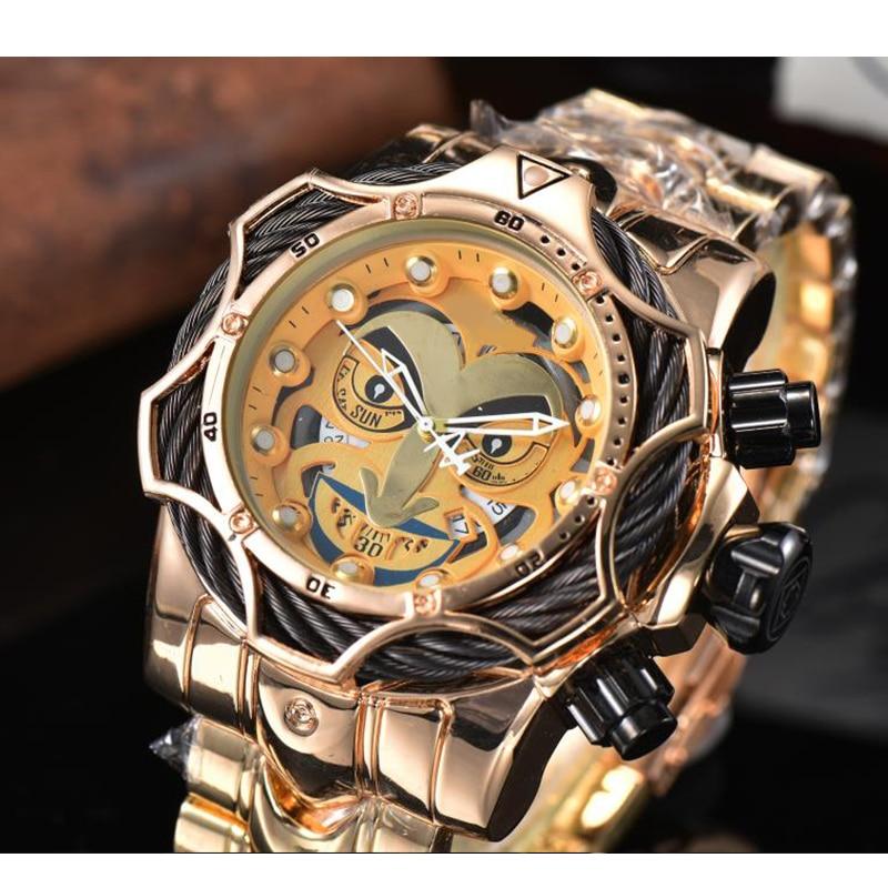 Luxury Top Brand Joker Watch Men Big Size Quartz Movement Waterproof Business Men's Gold WristWatch Joker Drop Shipping