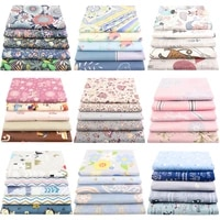 booksew 5 pcs pack 4050cm cotton fabric printed cloth sewing for fat quarters pillow quilting home textile sewing accessories