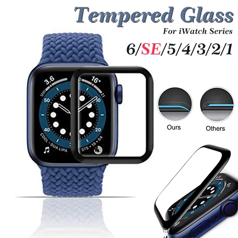 soft glass protector for apple watch series 6 se 5 4 40mm 44mm hydraulic anti fingerprint film for apple iwatch 3 2 1 38mm 42mm Screen Protector for Apple Watch 5 4 3 38MM 40MM 44MM 42MM Film for iWatch Series 4/5/6/SE Case(Not Tempered Soft glass)