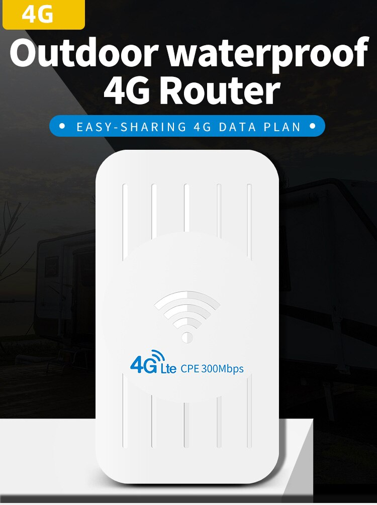 Открытый 4 г CPE маршрутизатор 300 Мбит/с CAT4 маршрутизаторы LTE 3G/4G сим-карты Wi-Fi маршрутизатор для IP Камера/снаружи покрытие сигнала Wi-Fi IP65 Водоне...