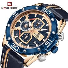 NAVIFORCE Luxury Watches Mens Fashion Casual Leather Strap Quartz WristWatch Military Sport Waterpro