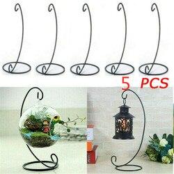 5 pçs suporte de ferro pendurado globo de vidro planta ar terrário ornamento expositor vela vaso suporte lanterna rack # t5p
