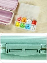 Large Capacity Portable Drug Storage jewelry Box Pillbox Travel Emergency First Pu Pill 8 Grids Medical Medicine Organizer