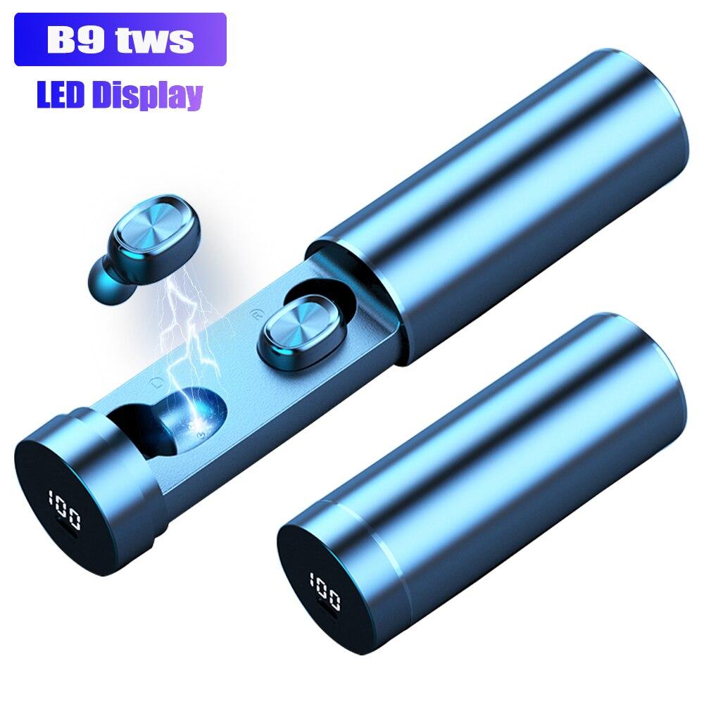 B9 TWS беспроводные наушники 8D HIFI Bluetooth 5,0 спортивные наушники с микрофоном светодиодный дисплей игровая Музыкальная гарнитура для телефонов