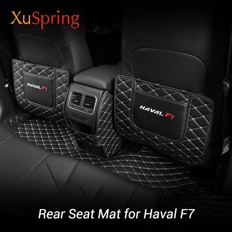 XuSpring para Haval F7 2019 2020 asiento trasero delantero Anti-kick estera protectora almohadilla cubierta pegatinas a prueba de polvo coche Styling