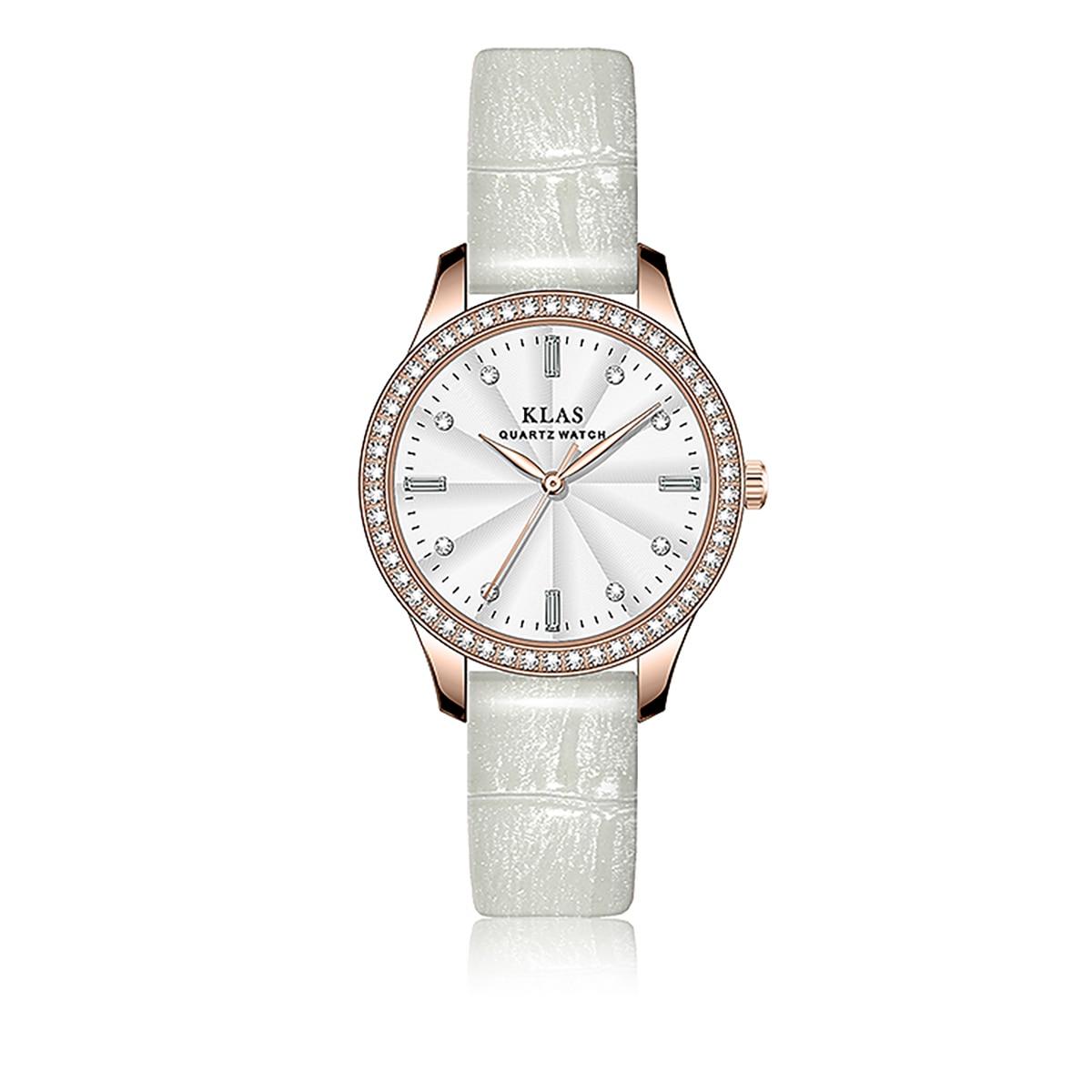 كوارتز لطيف نمط ساعة اتجاهات شخصية فريدة من نوعها الإبداعية مخصص مقاوم للماء السيدات ساعة KLAS العلامة التجارية