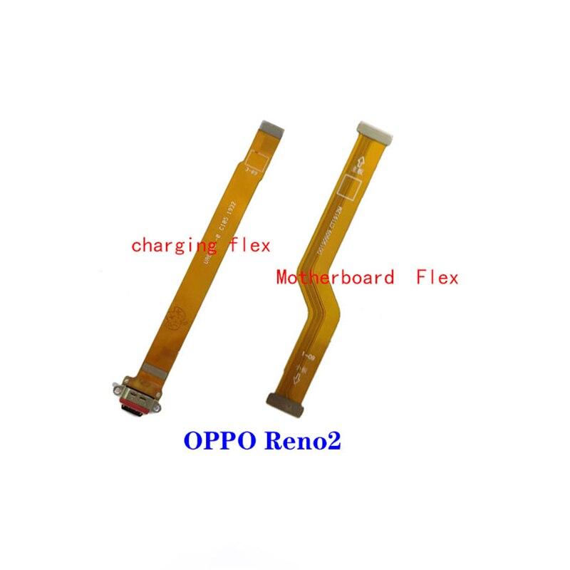 Tablero Principal placa base cable flex de puerto de carga usb flexible cable de micrófono para Oppo Reno2