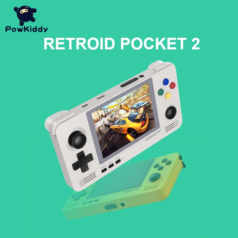 Android e Pandora Sistema de Comutação Powkiddy Retroid Pocket Retro Jogo Console 3.5-inch Ips Tela Duplo Jogos 3d 2