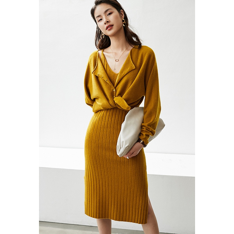Knit Cardigan  Normcore 100% Cashmere Single Breasted Sweters for Women Korean Fashion Vintage Sweater Cardigan Women enlarge