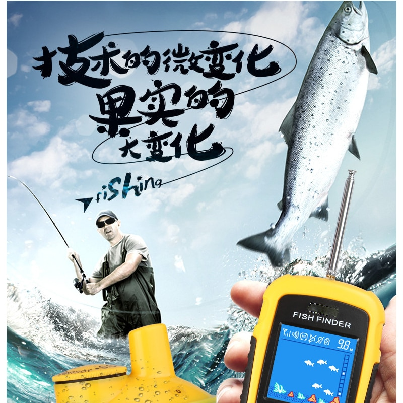 High quality best-selling wireless sonar color screen precision fish finder fishing supplies fish finder enlarge