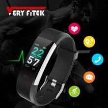 ID115HR PLUS Smart Armband Sport Armband Mit Herz Rate Monitor Fitness Tracker Band Uhr für Xiaomi Telefon pk id115plus