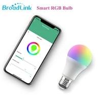 BroadLink LB27R1 E27 220V WiFi Smart RGB LED Bulbs Home Automation Timer Work with Alexa Google Home APP Wireless Remote Control