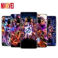 cool marvel avengers soft tpu for samsung galaxy a8 a9 a7 a750 a6 a5 a3 a6s a8s star plus 2016 2017 2018 black phone case
