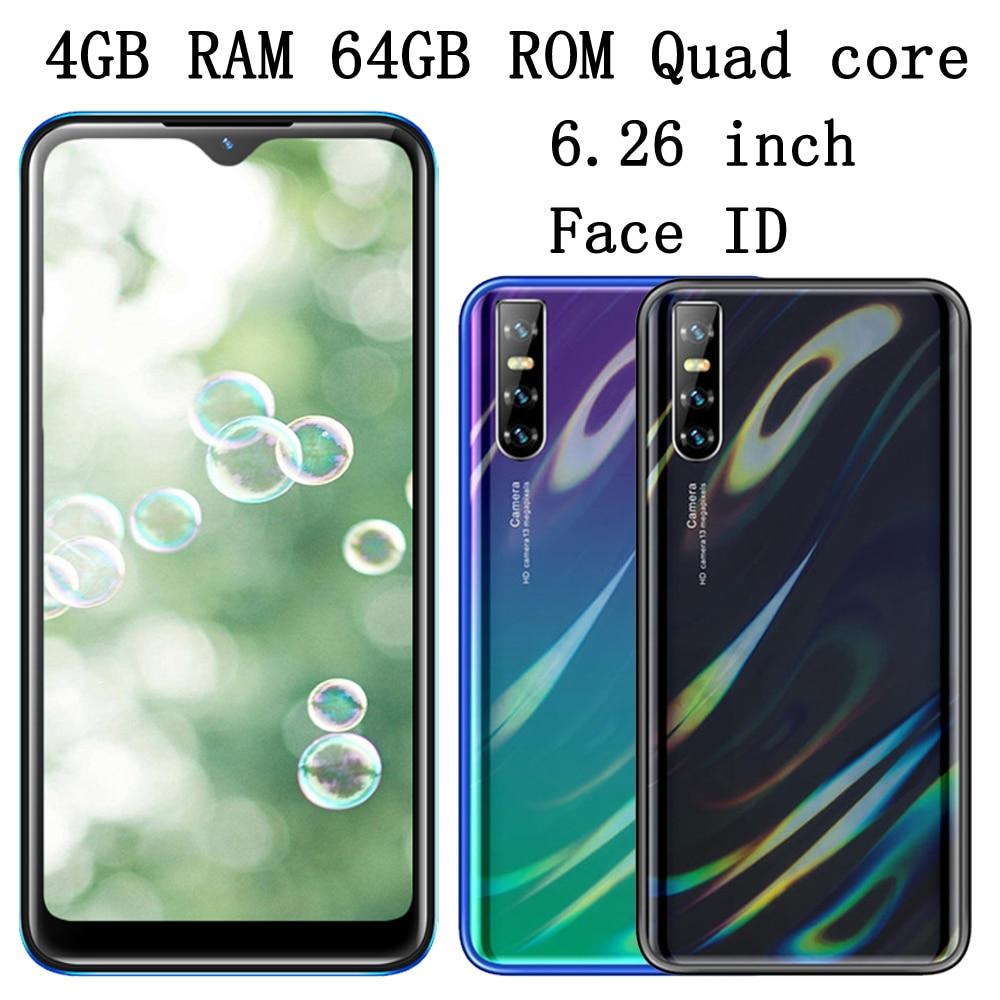 Identificación facial reconocimiento S5 Pro Smartphones 6,26 ''Pantalla de gota de agua...