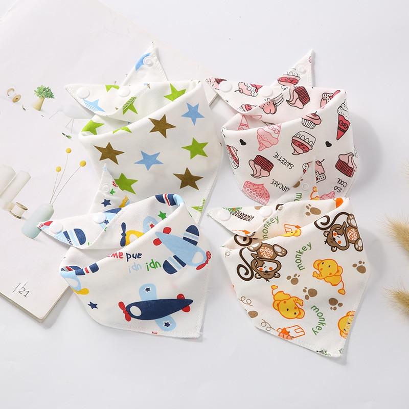 3 шт., детские нагрудники, двухслойные хлопковые нагрудники с рисунком, полотенце для маленьких мальчиков и девочек, шарф для кормления, нату...