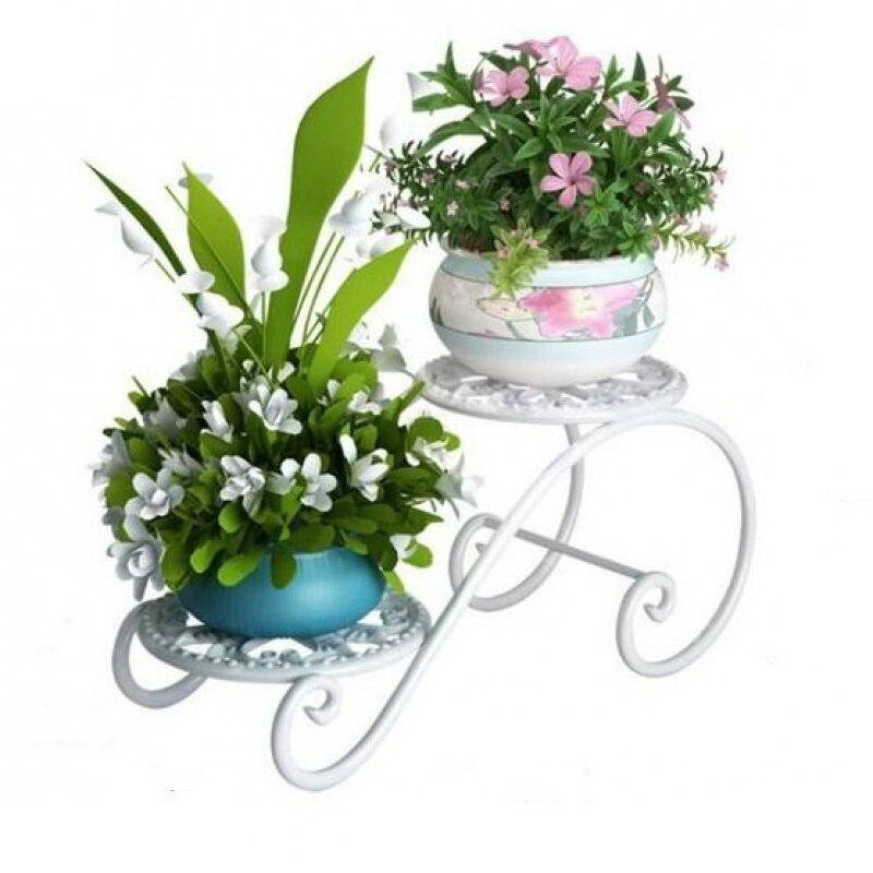Ou Shi, soporte de flores de hierro forjado, mesa de interior multicapa, ventana de balcón, escritorio de oficina, Mini maceta carnosa