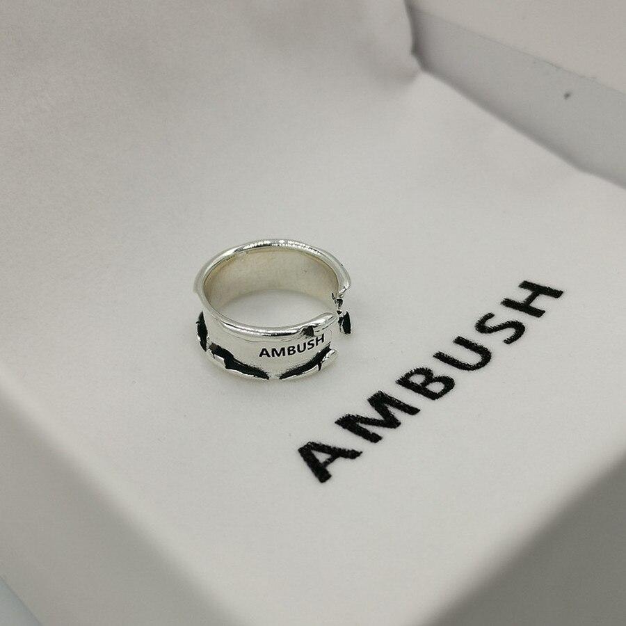 2021ss كمين خاتم فضة رجال نساء موضة عادية شكل دائري خاتم خواتم للرجال