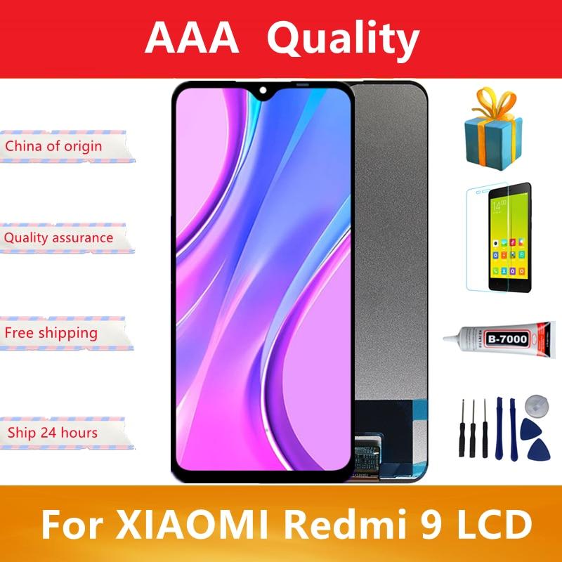 الأصلي ل شاومي Redmi 9 LCD عرض تعمل باللمس محول الأرقام ل Redmi 9 M2004J19AG M2004J19C الجمعية استبدال أجزاء