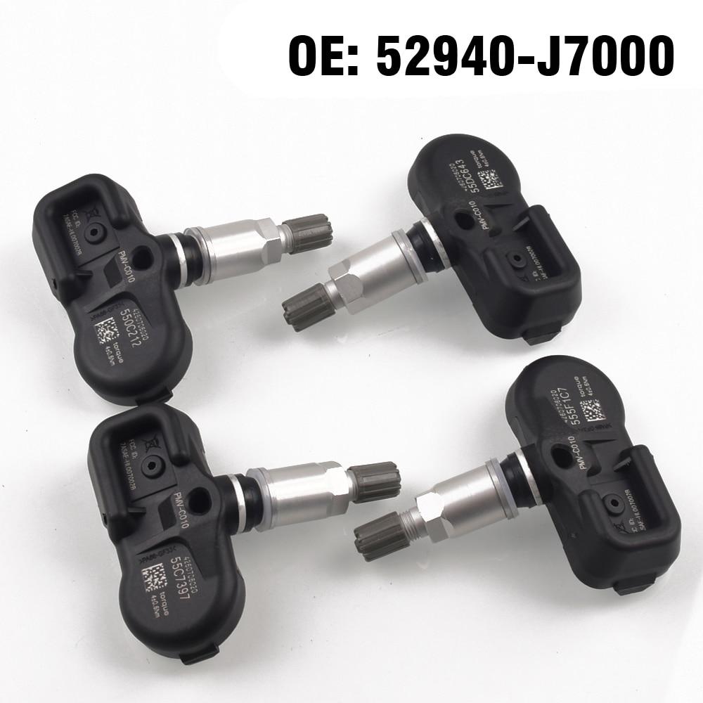 4 Uds neumático de coche Monitor de presión Sensor TPMS 433MHZ 52940J7000 para Kia Ceed CD 2018 de 2019 de 2020 estilo de coche