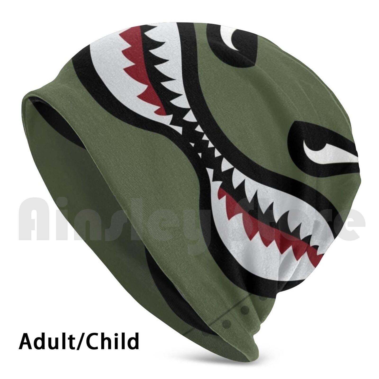 Shark Teeth! Beanies Pullover Cap Comfortable Flying Tiger Airplane A10 Warthog Shark Teeth