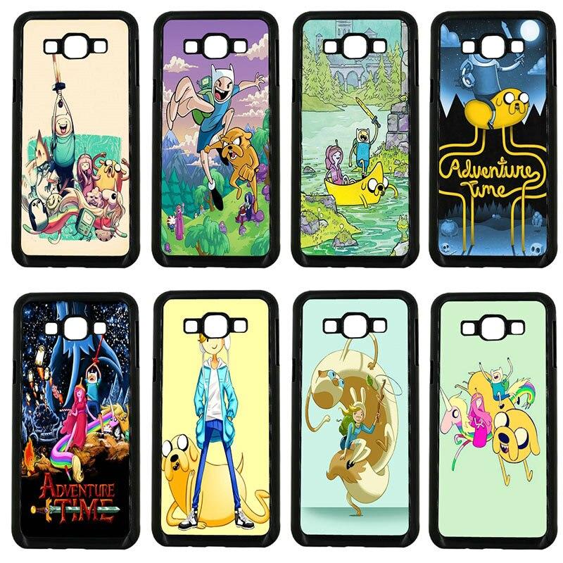 Funda de plástico duro de PC de dibujos animados Adventure Time para Samsung Galaxy J1 J2 J3 J5 J7 2015 2016 2017 en Prime Shell