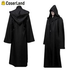 Star wars crianças adulto cosplay manto jedi cavaleiro anakin skywalker preto marrom guerreiro cabo halloween cosplay trajes banho robe