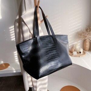 Alligator Women Shoulder Bags Designer Handbags Luxury Casual  Soft Crocodile Leather Messenger Bag Large Capacity Tote