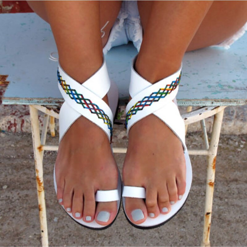 Zapatos mujer Sandalias de verano 2020 moda estilo romano zapatos casuales mujer plana peep-toe playa sandalias mujeres zapatos sapato femenino