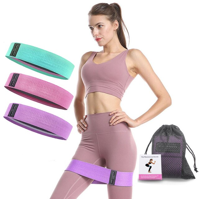 3 pcs fabric resistance bands booty band set gym equipment workout elastic rubber band for yoga sports fitness hip training